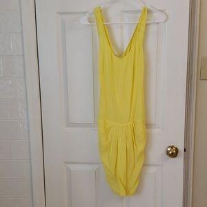 See U Soon Short Yellow Dress with pockets